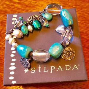 "Silpada Turquoise ""Girlfriends"" Bracelet"